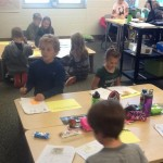 Mrs. Greenlund's class is noticing what we have done in our writing.